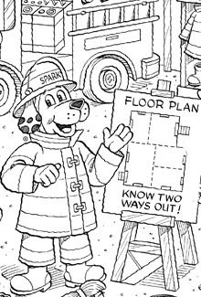 Halloween Safety Coloring Page Fun Pumpkin Template Hidden Firestation Picture Puzzle